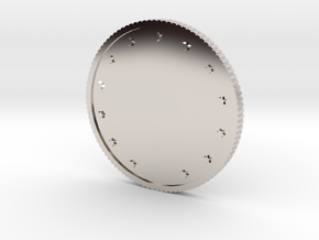 Coin in Rhodium Plated Brass