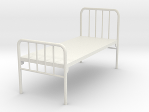 1:24 Hospital Bed in White Natural Versatile Plastic