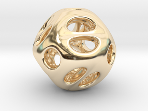 Chinese Jade 02 in 14k Gold Plated Brass