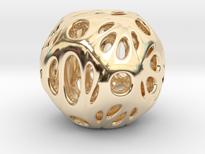 hydrangea ball 06 in 14k Gold Plated Brass