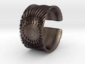 Flower Cut Bracelet in Polished Bronzed Silver Steel