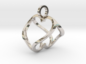 """""""Heart to Heart"""" Pendant in Platinum"""