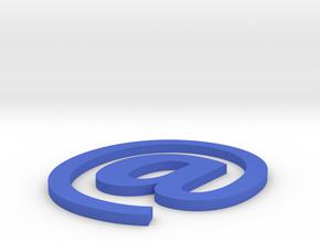 Coaster #3 - Email in Blue Processed Versatile Plastic