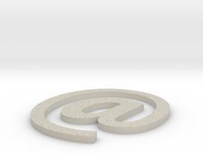 Coaster #3 - Email in Natural Sandstone