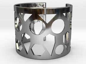 Cubic Bracelet Ø63 Mm Style A Medium/2.48 inch in Fine Detail Polished Silver