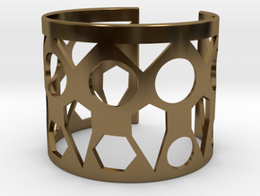 Cubic Bracelet Ø63 Mm Style A Medium/2.48 inch in Polished Bronze