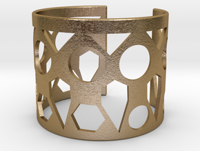 Cubic Bracelet Ø63 Mm Style A Medium/2.48 inch in Polished Gold Steel
