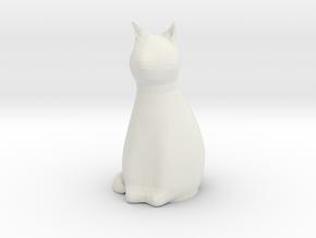 Cat / Katze - Anhängerkupplung in White Natural Versatile Plastic