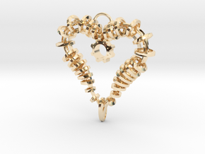 Heart of my Soul Pendant in 14k Gold Plated Brass