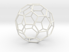 TruncatedIcosahedron 170mm in White Natural Versatile Plastic