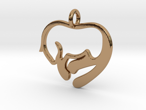 Cat Lover Pendant in Polished Brass