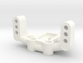Mrc Servo Mount in White Processed Versatile Plastic