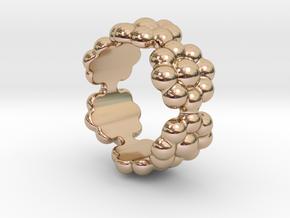 New Flower Ring 16 - Italian Size 16 in 14k Rose Gold Plated Brass