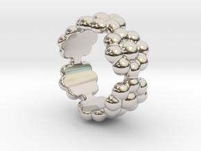 New Flower Ring 17 - Italian Size 17 in Platinum