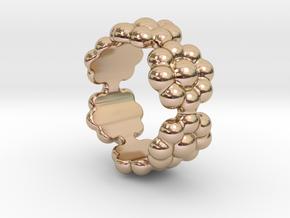 New Flower Ring 20 - Italian Size 20 in 14k Rose Gold Plated Brass