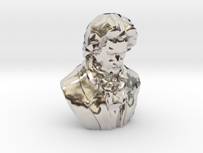 Ludwig van Beethoven in Rhodium Plated Brass