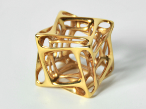 Duality Cube Silver in Polished Brass