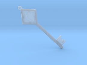 Sword Key in Smooth Fine Detail Plastic