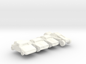 Colony Cars in White Processed Versatile Plastic