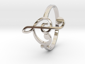 Size 8 Clefs Ring in Platinum
