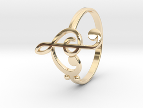 Size 10 Clefs Ring in 14K Yellow Gold