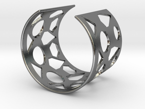 Cubic Bracelet Ø58 Mm Style A S/2.283 inch in Polished Silver
