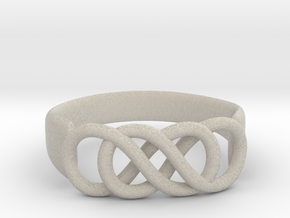 Double Infinity Ring 22.2mm V2 in Natural Sandstone