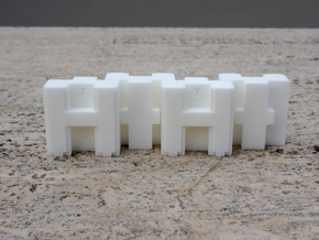 Puma Punku H-block 3,0cm in White Natural Versatile Plastic