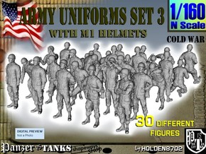 1-160 Army Modern Uniforms Set3 in Frosted Ultra Detail