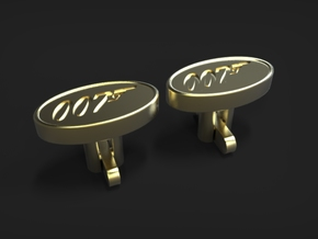 007 Cufflinks in Polished Brass