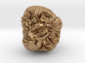 LEON door knob in Polished Brass