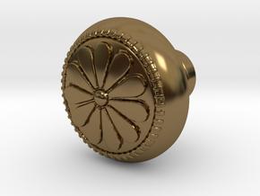 CARINA door knob in Polished Bronze