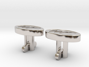 007 Cufflinks in Rhodium Plated Brass