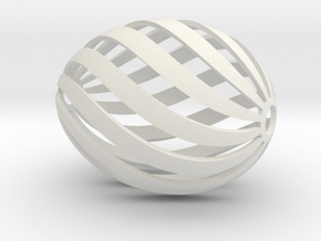 Egg Spiral in White Natural Versatile Plastic