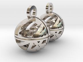 Craters of Mars Earrings in Platinum