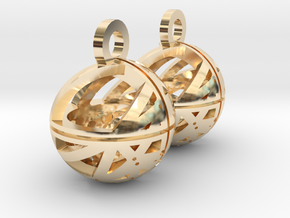 Craters of Mars Earrings in 14k Gold Plated Brass