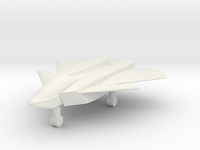 1/285 Boeing F/A-XX 6th Generation Fighter (x1) in White Natural Versatile Plastic