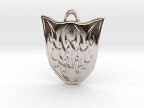 Ainmeer Crest in Rhodium Plated Brass