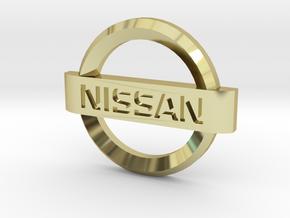 Nissan Flipkey Logo Badge Emblem in 18k Gold Plated Brass