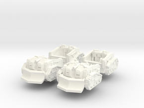 Mustang Scout Tractor (Alternate Set) in White Processed Versatile Plastic