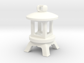 Japanese Stone Lantern B: Tritium (All Materials) in White Processed Versatile Plastic