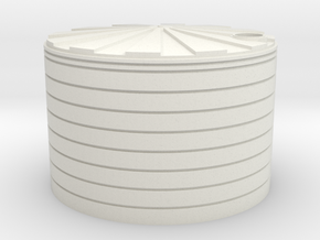 HO scale plastic water tank in White Natural Versatile Plastic