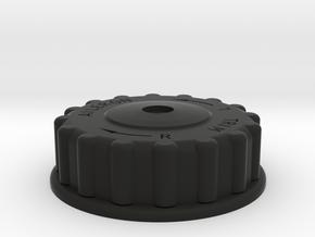 P51 Aileron Trim Wheel in Black Natural Versatile Plastic