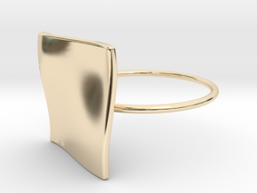 OCEAN Ring Thin Circle in 14k Gold Plated Brass
