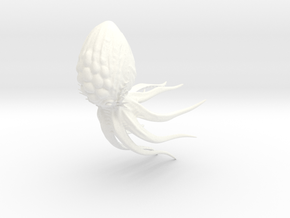 Toy Mind Flayer Octopus in White Processed Versatile Plastic