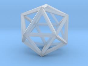 17cm-Icosahedron-Platon05-Polyhedron05 in Smooth Fine Detail Plastic