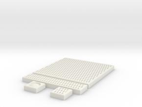 SciFi Tile 22 - Diamond Grating in White Natural Versatile Plastic