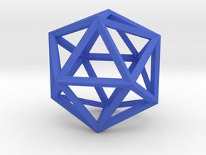 Icosahedron(Leonardo-style model) in Blue Processed Versatile Plastic