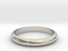 Ring 18mm in Rhodium Plated Brass
