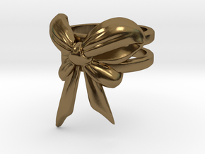 Bow Ring (S7) in Polished Bronze